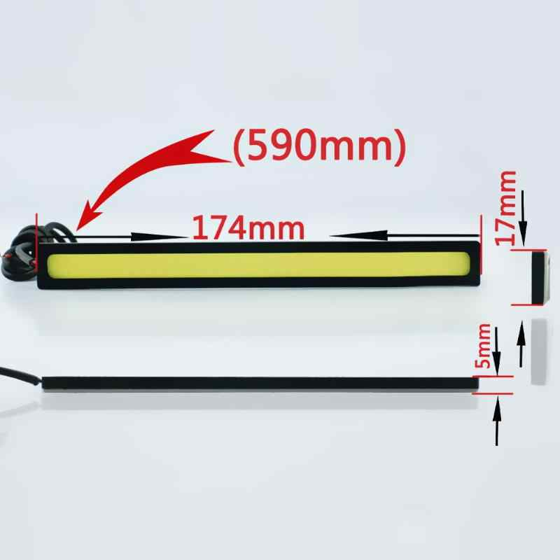 Car Styling 2Pcs Ultra Bright LED Daytime Running lights 17cm Waterproof Auto Car DRL COB Driving Fog lamp for bmw kia