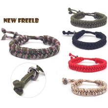 2019 New Adjustable Survival Cord Paracord Bracelets Military Braided Wristband for women men fans Simple Fashion 5.9-10.6 inch
