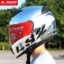 Original LS2 FF390 Breaker Split Motorradhelme mit inneren sonne schild Chrome Full face racing motorrad helme S M L XL XXL