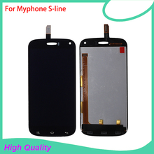 100 Tested LCD Display Touch Panel For MyPhone S line Touch Screen Black Color Mobile font
