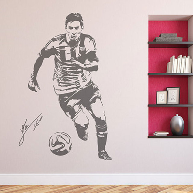 Wall Decal Sticker Football Soccer Player Argentina Leo Sports ...
