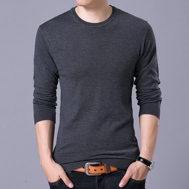 Asstseries Sweater 2018 spring Autumn mens Casual slim Solid color O-neck  pullover. Add Cart cb71db818