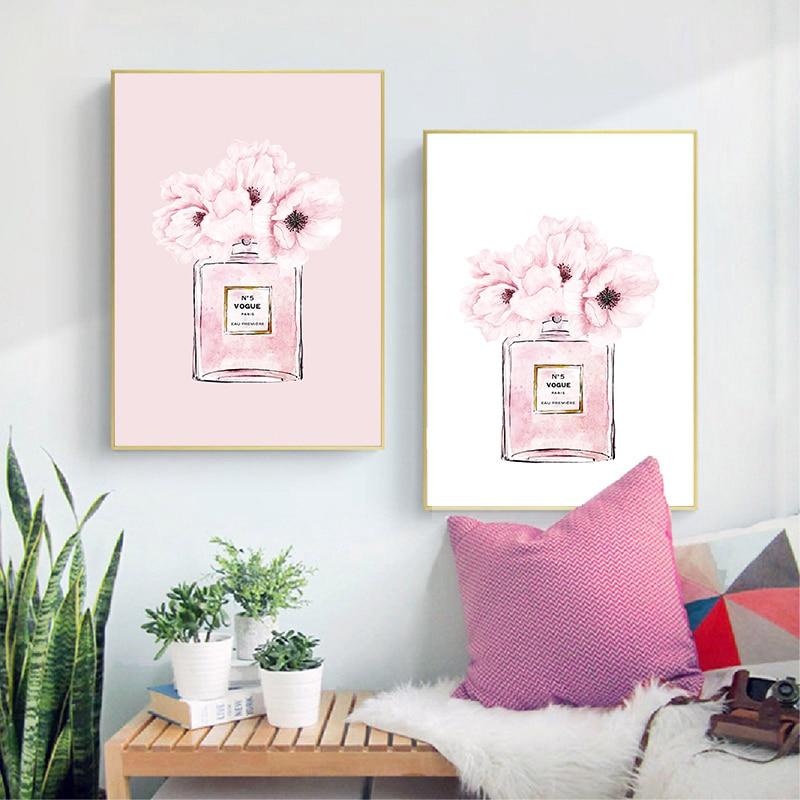 coco perfume canvas print living room decor