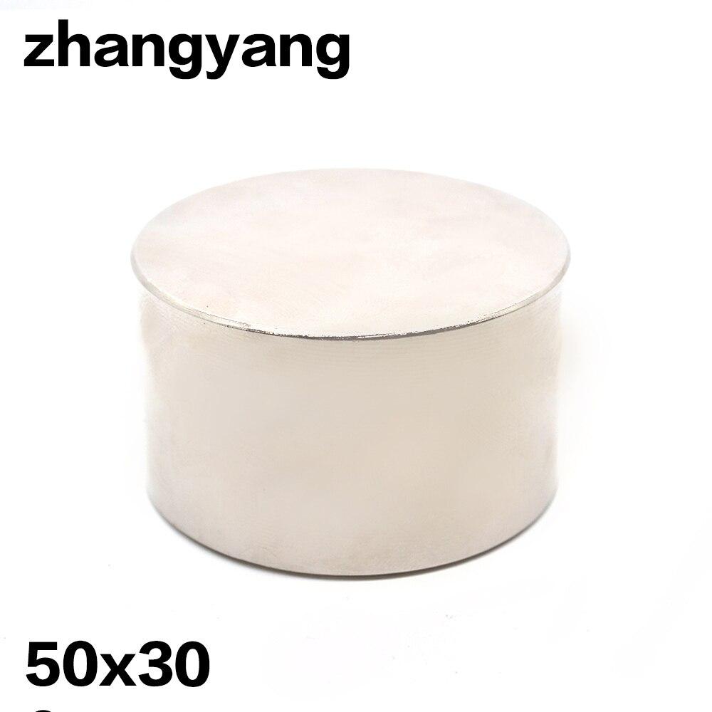 1 pcs Forte Ronde Dia 50mm x 30mm N35 Rare Earth Néodyme Aimant Art Artisanat Réfrigérateur livraison gratuite