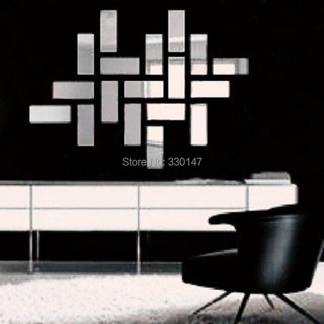 Decoration murale moderne pour salon - Miroir autocollant design ...