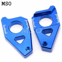 Motorcycle CNC Aluminum Rear Axle Spindle Chain Adjuster Blocks For Yamaha T MAX 530 YZF R1 2005 2006 2007 2008 2009 2010 2015