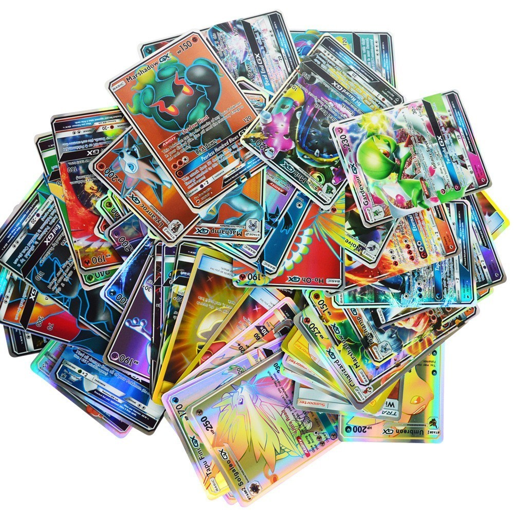 2019 Best Selling Shining Cards Game Battle Carte 60 100 120 200 Pcs Trading Xx Cards Game Children Toy