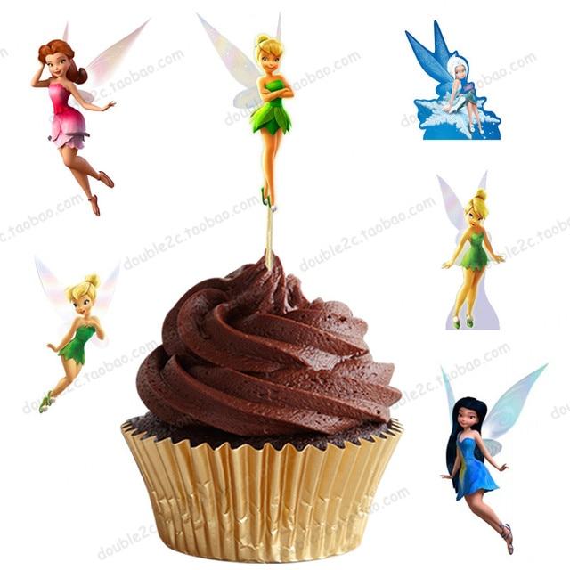 72 Teile Los Fee Tinker Bell Feen Prinzessin Cupcake Topper Picks
