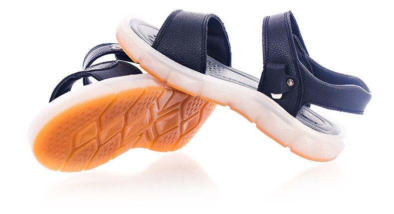 meninas usb recarregável sapatos de praia crianças