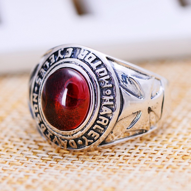 цена на Silver jewelry wholesale retro Crusader flower ring male vampire domineering factory direct mixed batch