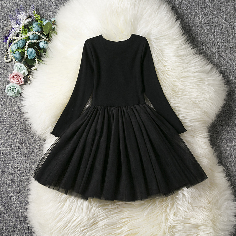 HTB1aaIWaQL0gK0jSZFAq6AA9pXas Kids Long Sleeve Lace Drsses for Girls Party Dress Star Printed Birthday Tutu Dresses Children Casual Wear 3 6 8 Years Vestidos