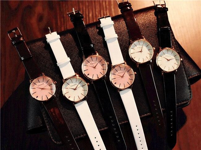 Polygonal dial design women watches luxury fashion dress quartz watch ulzzang popular brand white ladies leather wristwatch 5