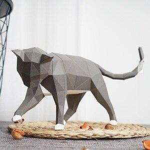 Бумага с милым котом, 3D материал для рукоделия, для домашнего декора, реквизит #1156, ручная работа, милые геометрические бумажные фигурки