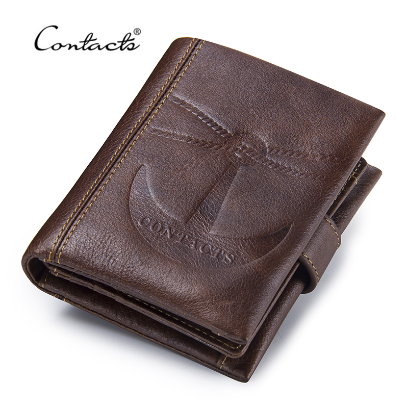 CONTACT'S Vintage Short Wallets Genuine Leather Men's Wallet Hasp Design Coin Pocket Purses For Male Photo Card Holders Bag famous brand leather wallets men small casual vintage short purses male credit card holders hot sale creative design money bags