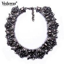 2019 New Fashion Vintage Rhinestone Statement Necklace for Women Trendy Chunky Crystal Flower Choker Necklace Wholesale xg076