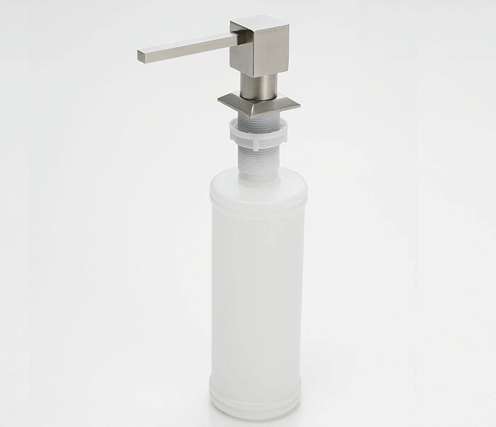Free Shipping Brushed Nickel Metal Stainless Steel Kitchen Sink Bottle  Liquid Soap Dispenser Built In Hand