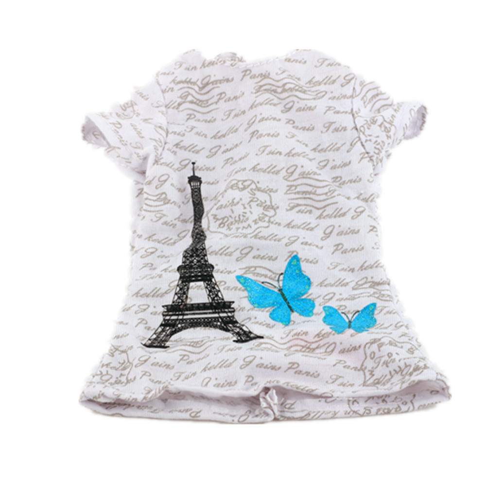 Fleta Dolls accessories 2017 high quality 18 Inch American Girl Doll T-shirt ,Free shipping!N88 american girl doll clothes for 18 inch dolls beautiful toy dresses outfit set fashion dolls clothes doll accessories