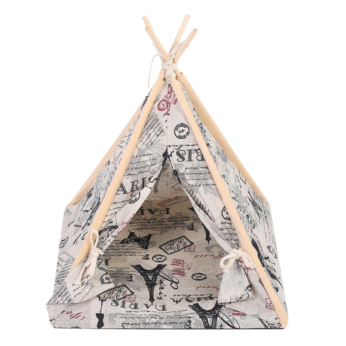 3 Styles Foldable Linen Pet Dog House Kennels Washable Tent Puppy Cat Indoor Outdoor Portable Teepee Mat Dog Supplies Gifts