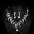 Vestido imitado collar de perlas nupcial conjunto joyería de la boda accesorios partido de las mujeres pendientes de lujo plateado plata bijoux D026