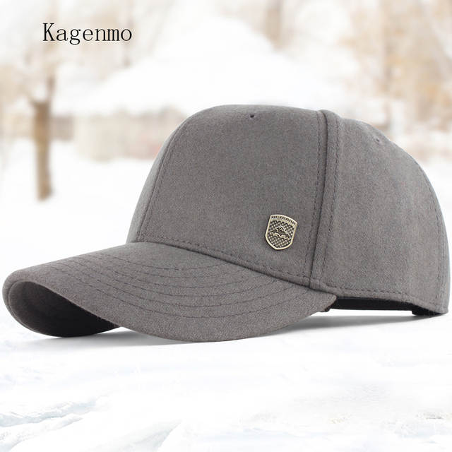 09cc47d905e Online Shop Kagenmo Male winter warm hat male hat woolen baseball cap  winter cap the elderly autumn and winter cotton hat for man