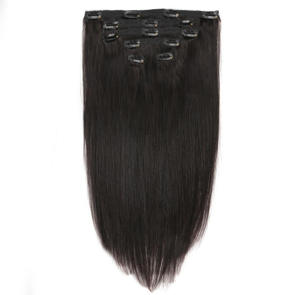 Real Beauty Brazilian Clip In Remy Hair Extensions Clip On 100% Human Hair Extenisons 6Pieces/70G Double Weft Hair Extensions