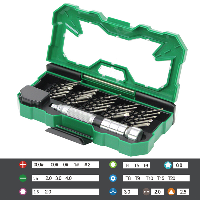 Set di cacciaviti di precisione 25 in 1 LAOA Inserti magnetici per kit di strumenti di riparazione di telefoni cellulari per laptop