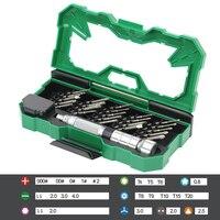 LAOA 25 in 1 Precision Screwdriver Set Magnetic Screwdriver bits For Iphone Laptop Mobile Phone Cell Phones Repair Tool Kits