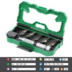 Laoa 25 In 1 Precision Obeng Set Magnetic Obeng Bit untuk Laptop Ponsel Ponsel Alat Perbaikan Kit