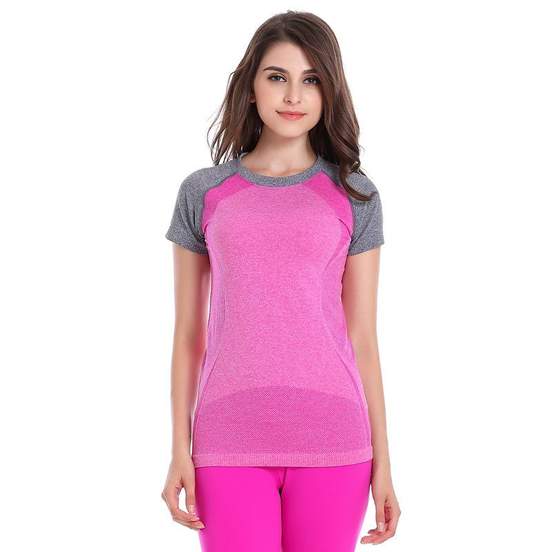 New Yoga Compression Tights Womens Sport T-shirts Dry Quick Running Short Sleeve Fitness Women Tshirt Gym tops HSWA12