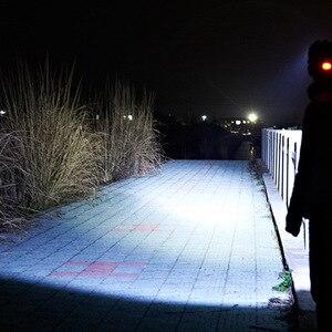 Image 5 - Индуктивный светодиодный налобный фонарь ZK20 с ИК датчиком движения тела светильник * T6 + 2 * COB, Прямая поставка, налобный фонарь, налобный фонарь с 2 аккумуляторами 18650