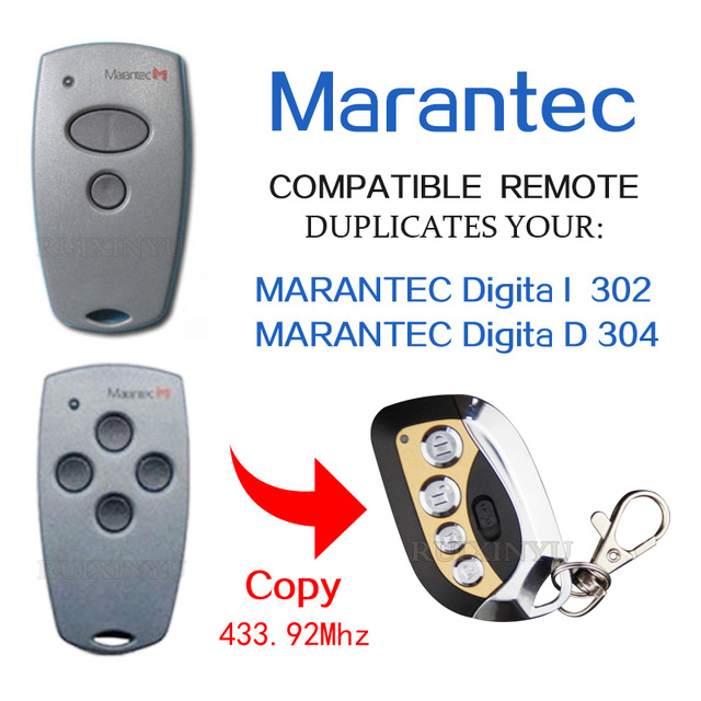 MARANTEC 302 / MARANTEC D304 Garage Door remotes high quality copy 433.92mhz remote control for  sc 1 st  AliExpress.com & MARANTEC 302 / MARANTEC D304 Garage Door remotes high quality copy ...