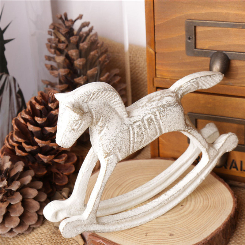 Metal Horse Model European Rocking Horse Gifts Home