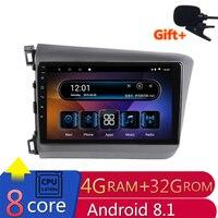 9 4G Оперативная память 8 ядер Android Автомобильная dvd навигационная система для Honda Civic 2012 2013 2014 2015 аудио для стерео Радио автомобильной wifi роуте