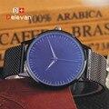 DELEVAN Luxury Watch Men Brand Men's Watches Ultra Thin Stainless Steel Mesh Band Quartz Wristwatch Fashion casual watch 1128