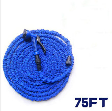 High quality 75FT Telescopic Garden Hose Magic Water Hose Washing Car water pipe With Spray Nozzle/ Connector  Free Shipping