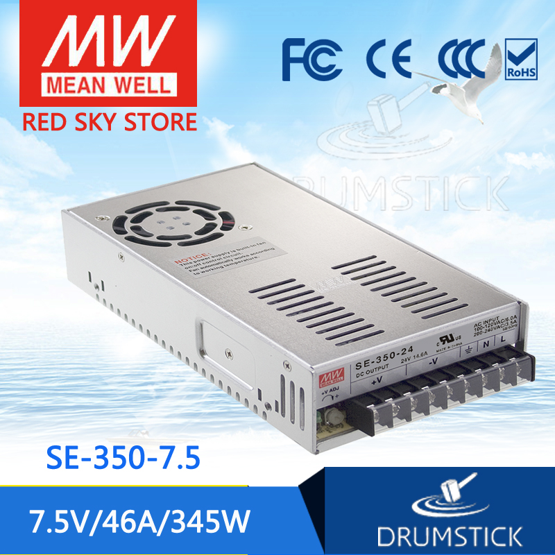 Advantages MEAN WELL SE-350-7.5 7.5V 46A meanwell SE-350 7.5V 345W Single Output Switching Power Supply best selling mean well se 200 15 15v 14a meanwell se 200 15v 210w single output switching power supply