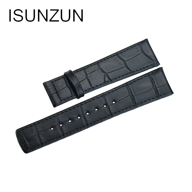 ISUNZUN Hot Quality WatchBand For CK K2N281C1/K2N281C6/K2N286G6 Watch Strap Genuine Leather Brand WatchBand For Women And Men women crocodile leather watch strap for vacheron constantin melisa longines men genuine leather bracelet watchband montre