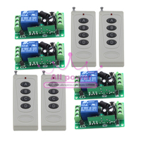 Hot Selling 12V 1CH Small Channel Wireless Remote Control Radio Switch 315mhz 4Transmitter 4Receiver 105m High Sensitivity DC