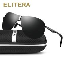 Elitera 브랜드 디자인 새로운 남여 알루미늄 마그네슘 선글라스 남자 여자 편광 된 태양 안경 레트로 금속 안경 운전 uv400