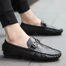 2018 new fashion casual microfiber shoes man simple light joker comfortable loafer size 39-44 color black gray khaki xk3