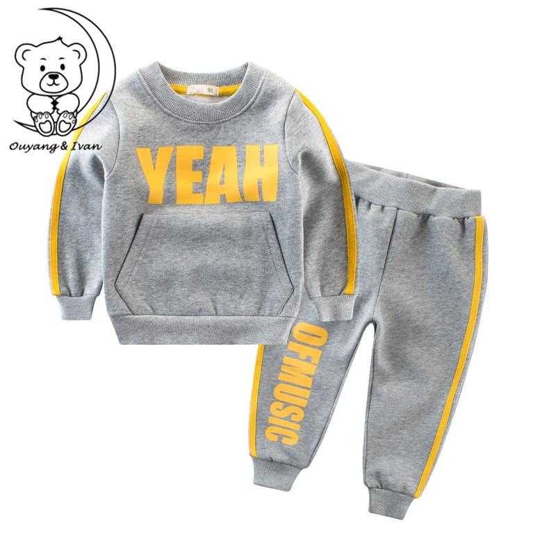 autumn winter children's sets sweatshirts cotton boys set girls boys sport suits boys' clothing set kids boys sport suits gray