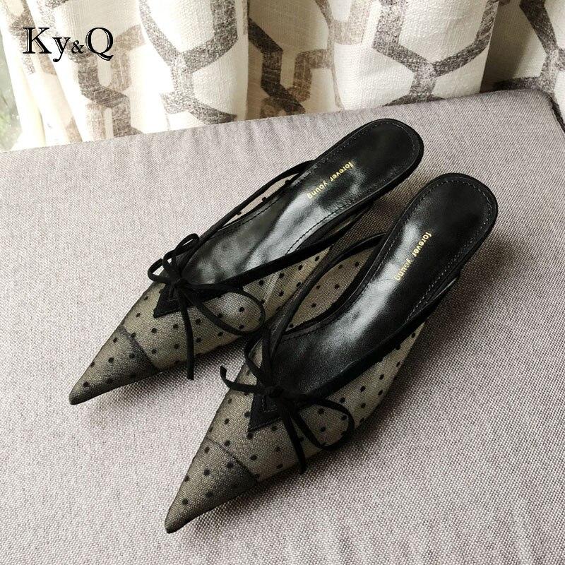 2018 Brillo Malla blanco Zapatos Tacones Plata Ver Pie Dedo Través Bombas Del De Diseño Puntiagudo Boda A Moda Negro Encaje Bajos rxRZqfrw0
