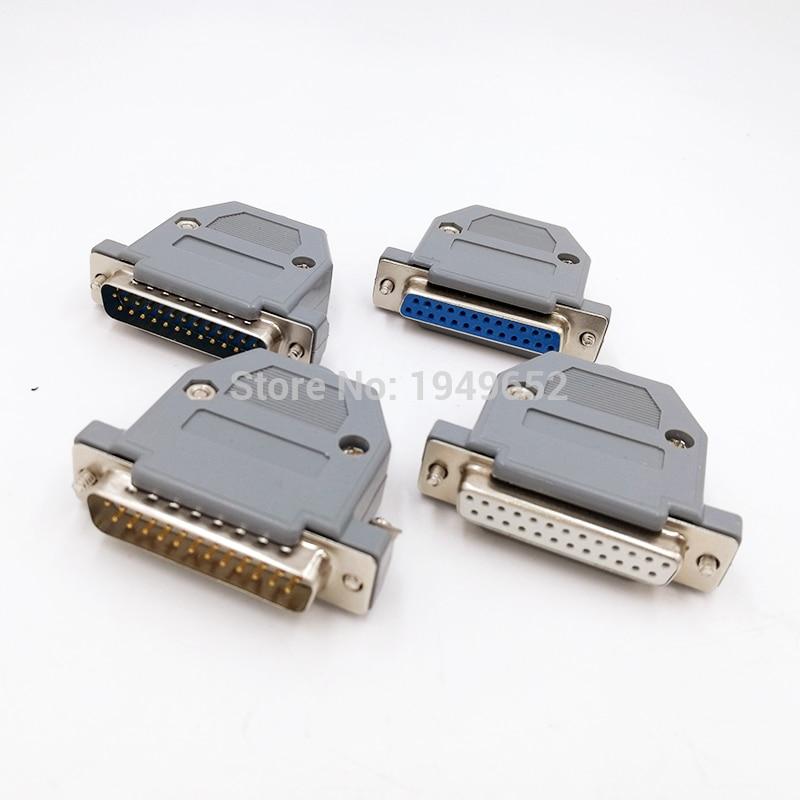 DB25, полуразъем для кабеля для передачи данных, фоторазъем, 2 ряда, 25-контактный переходник с женским и мужским разъемами, DP25