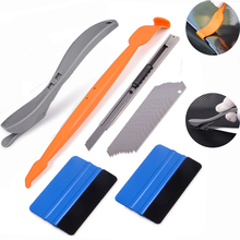 EHDIS Carbon Film Vinyl Car Wrap Tool Set Sticker Styling Magnetic Squeegee Cutter Knife Window Tint Auto Accessories