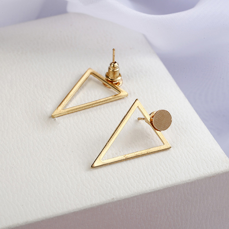 Simple Style Fashion Silver Gold Color Earrings for Women Square Round Geometric Hanging Earrings 18 Female Pendientes Jewelry 26