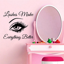 Diy eye everything better Home Decorations Pvc Decal Living Room Children Mural Poster