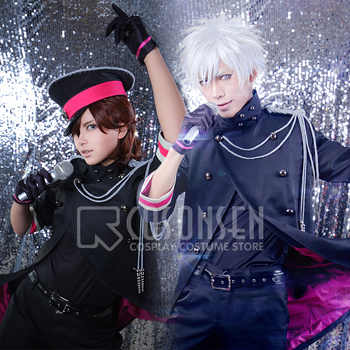 Uta no Prince sama Shining All Star CD2 Ai Mikaze Ranmaru Kurosaki Reiji Kotobuki Camus Senior Black Uniform Cosplay Costume - DISCOUNT ITEM  0% OFF All Category