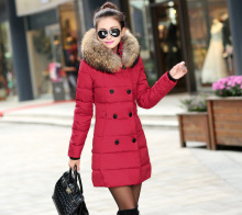 The 2016 Explosion In Winter Thickened Long Down Cotton Padded Down Girl Winter Jacket Women Down Coat
