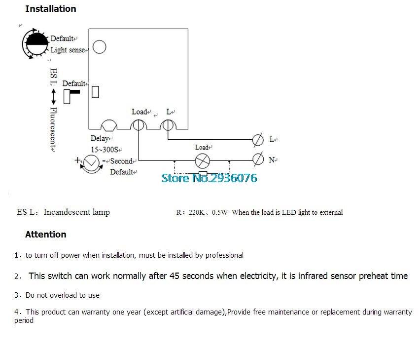 Infrared IR PIR Senser Switch Module Body Motion Sensor Auto On off Lights Lamps APR6_30