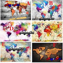 landscape 5d large diamond painting world map daimond embroidery full square resin beads picture puzzle diamand mosaic stickers(China)